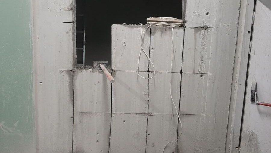 Алмазна різка та свердління залізобетоної стіни для дверного пройому
